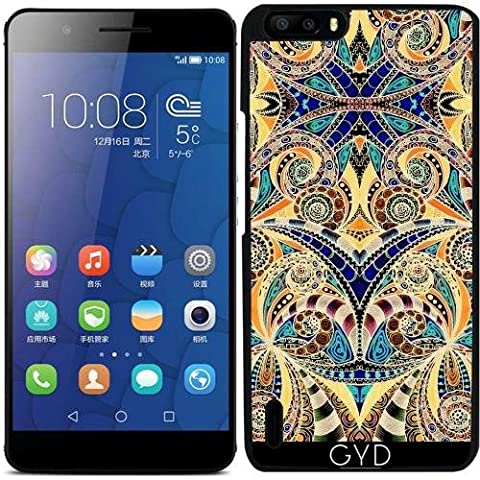 Coque pour Huawei Honor 6 Plus - G7 Dessin Floral Zentangle by Medusa GraphicArt