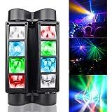 BETOPPER Lumières Disco Lumières DJ Lumières de scène Lumière de danse à têtes mobiles Mini Spider Lumière haute énergie acti