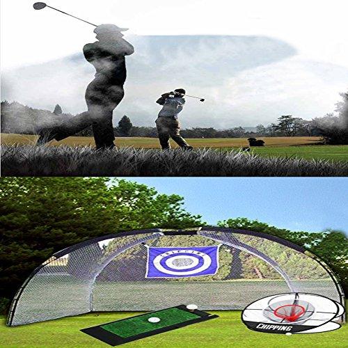 MSL 3in One Golf Practice Set, groß Chipping Netz Golf Swing Matte Approach Netz Paket (Golf Swing-matte)