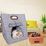 Haustier Rucksack NHsunray Faltbarer Tragbarer Tiere Tasche 3 In 1 Reise Transportträger Tragetasche Für Kleine Hunde Katzen Welpen (Grau)