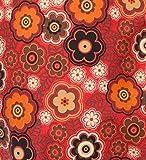 Joyfill Deluxe Klappmatratze 180x70x15cm, große Dessinauswahl, Made in Germany (554 retro Blumen rot)