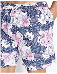 MyShoeStore Brave Soul Mens Swim Shorts Mesh Lining Swimwear Plain and Hawaiian Print Swimming Surf Board Short Sports Gym Summer Holiday Beach Surfing Hawaii Printed Trunk Pants Size S-XL