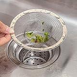 su-luoyu Edelstahl Abflußsieb Kanalfilter Edelstahlsieb Waschbecken Filter Gemüse Becken Filter Bad Bodenablauf für Bad und Küche