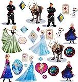 alles-meine.de GmbH 29 TLG. Set _ Fensterbilder -  Disney die Eiskönigin / Frozen  - Sticker Fenstersticker Aufkleber - selbstklebend + wiederverwendbar - Fensterbild / z.B. fü..