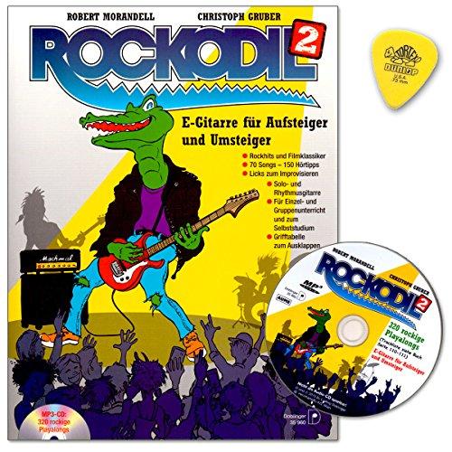 Rockodil Band 2 : E-Gitarre für Aufsteiger und Umsteiger - 70 Songs - 150 Hörtipps im Buch - Über 250 rockige Playalongs auf MP3-CD - Licks zum Improvisieren - Notenbuch mit CD und Dunlop Plek