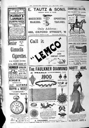 Il Webb 1900 di Mappin del Diamante di Lemco Faulkner della Pubblicità Humber Cicla le Sigarette
