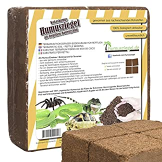 humusziegel - terrarium soil - made of 100% pure pressed coconut soil - super absorbent bedding - block of 70 litres Humusziegel – Terrarium soil – made of 100% pure pressed coconut soil – super absorbent bedding – Block of 70 Litres 61JF7jI3KqL