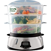 Russell Hobbs Cuiseur Vapeur 10,5L, Digital, Programmable, Cuisson Légumes, Riz, Œufs, Compatible Lave-Vaisselle - 23560…