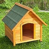 Niche d'extérieur pour chien Bois Clair toit pointu
