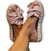 Dasongff Damen Sommer Sandalen Lässige Flache Schuhe Plateau Flat Heel Elegant Espadrilles Römersandalen Pantoletten…