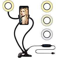 Tulua Professional Selfie Ring Light and Cell Phone & Webcam Holder Stand for Live Stream, Makeup TIK Tok, Vigo, YouTube…