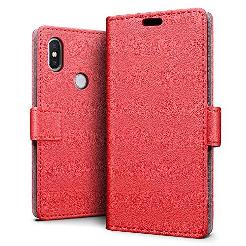 SLEO Funda para Xiaomi Redmi S2 Carcasa Libro de Cuero Ultra Delgado Billetera Cartera [Ranuras de Tarjeta,Soporte Plegable,Cierre Magnético] Case Flip Cover
