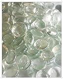 Lot de 100pierres/billes/galets en verre transparent, forme ronde 17-20mm