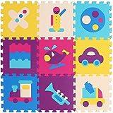 XMTMMD Schaumstoff Puzzle Matte Fruits Baby Gym Puzzle Spielmatte Kids Interlocking Soft Boden Fliesen Kinder Zimmer Play Bereich AM24G