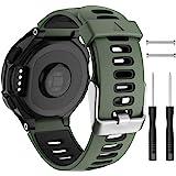 Isabake Garmin Forerunner 735XT armband vervanging, Garmin 235 band, zachte siliconen band voor 620 630 235 235 Lite 220 230