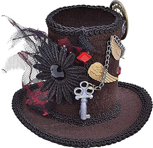 Halloween Viktorianisch & Edwardianisch Ausgefallen Party Steampunk Mini Zylinder Verrückter Hutmacher
