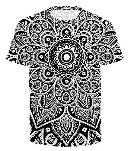 Ocean Plus - Camiseta Deportiva - con Botones - Redondo - Manga Corta - para Hombre Mandala S