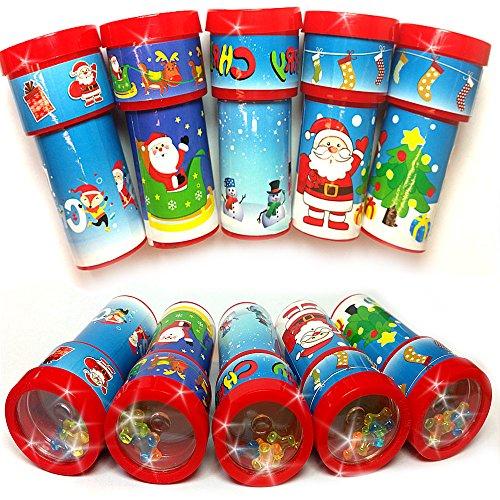 German Trendseller® - 12 x Weihnachts Kaleidoskop ┃ Weihnachten ┃ Mitgebsel ┃ Kinder ┃ 12 (Figur Kostüme Bilderbuch Uk)