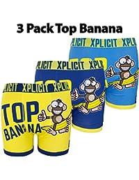 Xplicit Mens Novelty Slogan Funny Trunks Boxers (Pack of 3)
