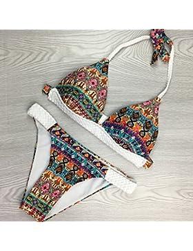 Conjuntos de Bikini Sexy traje de baño Trajes de Baño adelgazantes, costura, traje de baño, un gran número de,S
