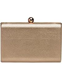 CASPAR TA402 elegante Damen Box Clutch Tasche Abendtasche