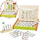 jerryvon Juguetes Montessori de Madera - Puzzle Juego Logica Juegos Educativos Bebé Bloques Clasificación de Animales y Color
