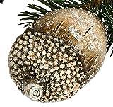 dekojohnson Deko-Eichel im Zweier Set Weihnachtsdeko Nostalgie-Deko Streudeko Landhausstil naturfarben 12x8cm Tischdeko