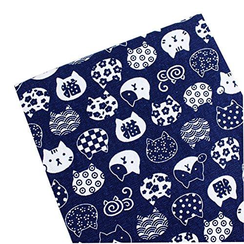 East Utopia Japanischen Stil DIY Stoff Tuch Material Schöne Muster Blau (50 * 145 - Mouchoir Kostüm