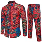 Malloom_Vêtements Malloom Chemise à Manches Longues Imprime pour Homme T-04 FR:48(M)