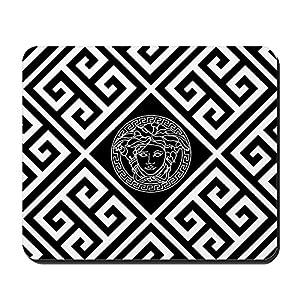 CafePress–Griechisch Schlüssel Medusa schwarz–rutschfeste Gummi Mauspad, Gaming Maus Pad