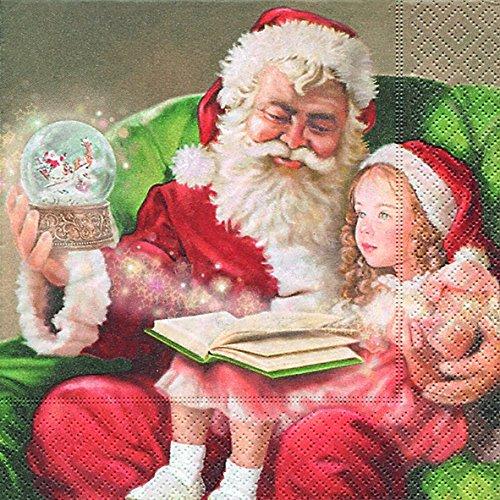 40 Cocktail servietten Weihnachtslied (A Christmas carol)1/4 gefalzt, 3-lagig Größe offen: 25x25 Weihnachten Advent