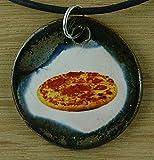 Echtes Kunsthandwerk: Witziger Keramik Anhänger Pizza! italienisch essen, Restaurant, Pasta, Italien, Souvenir