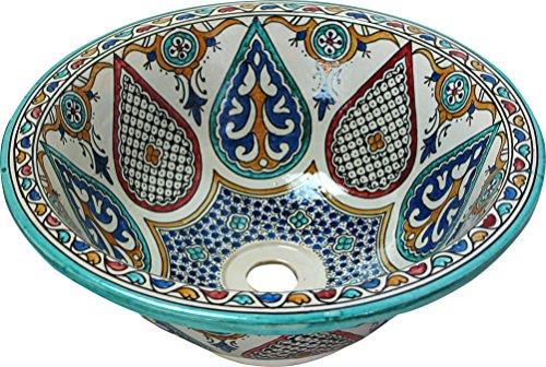 Moulé en cuivre ovale Handmade bassin Lavabo marocain - grand ovale moulé - martelé amp; &L49 W39 H16 cm - jeu dernière 1