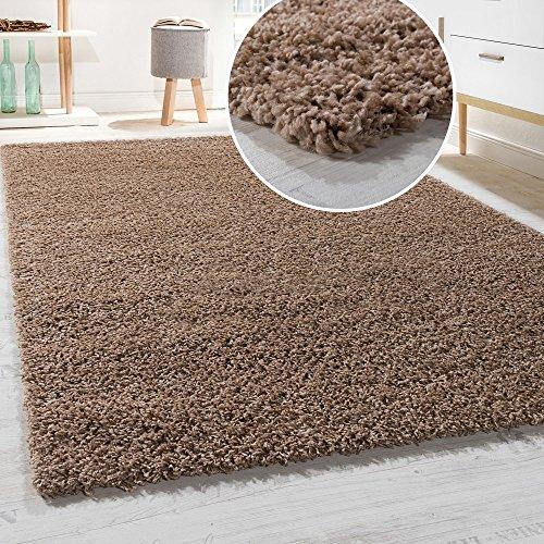 Paco Home Hochflor Shaggy Langflor Teppich versch. Farben u. Grössen TOP Preis NEU*OVP, Grösse:140x200 cm, Farbe:Beige