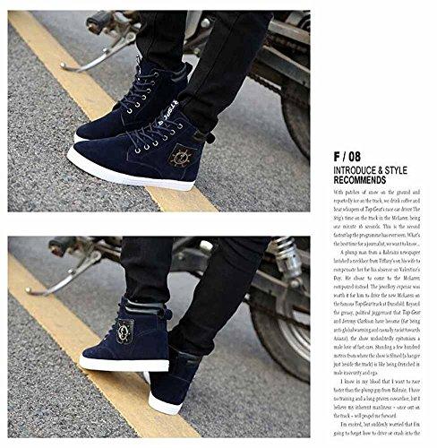 Uomini Casual Martin Boots 2017 Autunno E Inverno Nuovi Stili Britannici Stivali Alto Fashion Top Blue