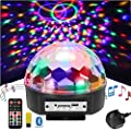 Disco Lights Ball Party Lights,Loutsbeam 9 Color LED Party Lights Stage Lights Rotating Magic Ball Lights Sound Activated Strobe MP3 USB Effect Light with Remote Control+Bluetooth Control for Kids Birthday/Xmas Wedding