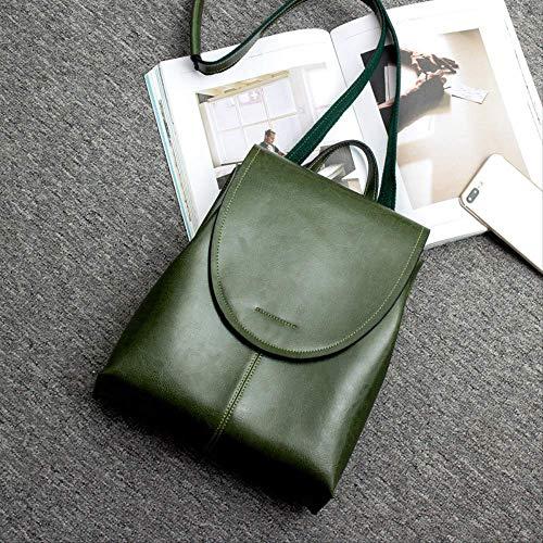 Lady Bag Charme (2019 New Leather Womens Bag Weiche Retro Damen Schultertasche Rucksack)