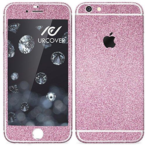 Urcover® Glitzer-Folie zum Aufkleben | Apple iPhone 6 / 6s | Folie in Pink | Zubehör Glitzerhülle Handyskin Diamond Funkeln Schutzfolie Handy-schutz Luxus Bling Glamourös