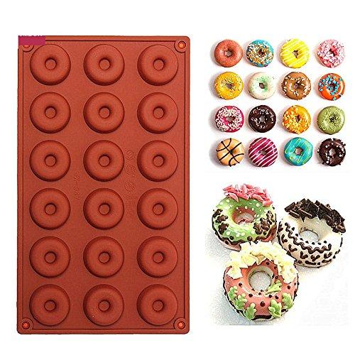 EQLEF® 18 Grids Mini Doughnut-Form Runde Buscuit Und Kuchen-Form für DIY Backen