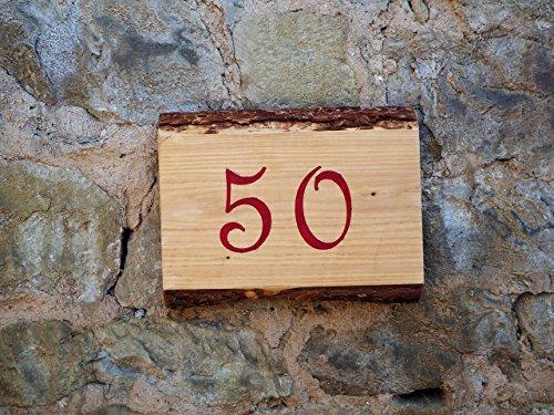 Handgearbeitetes Hausnummernschild. Individualisierbar