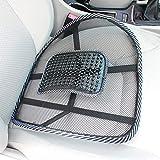 leenBonnie Sedia Massaggio Schienale Supporto Lombare Mesh Cuscino ventilato Cuscino per seggiolino per Auto Supporto per Massaggio Rilassante per sedili in Auto, in Ufficio o in casa-Nero