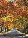 Alleen 2019 - Wandkalender, Posterkalender Garten & Blumen, Posterkalender, Landschaftskalender 2019  -  48 x 64 cm