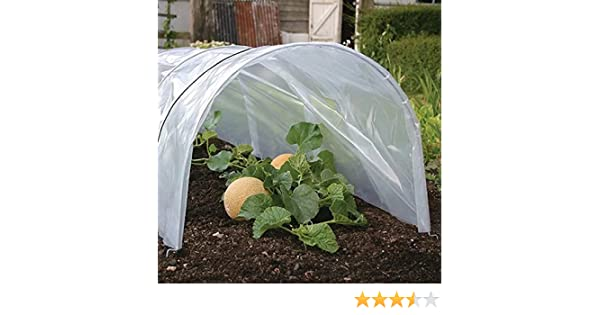 Poly grow tunnel cloche 3m propagator plant frost protection mini greenhousee