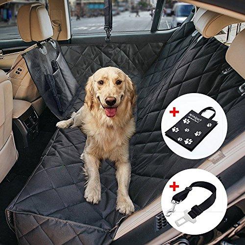 Wasserdichte Hunde Autoschondecke mit Seitenschutz & Reißverschlüsse