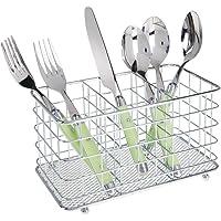 mDesign range couvert en métal – idéal comme rangement couvert – avec 3 compartiments pour couverts, éponges et…