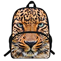 VEEWOW 16-Inch Animal Snow Leopard Backpack for School Teenagers Children Bags (D907)