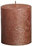 Rustic 103667630380 Metallische Stumpenkerze, Paraffin-Wachs, Kupferfarben