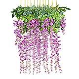 12 Piezas Flores Artificiales Plantas Decoración - YQing