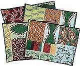 Manuelle Weihnachten Konfetti Patchwork Gobelin Tisch-Sets tchcrp 45,7x 33cm Set von 4Multi-Designs variieren
