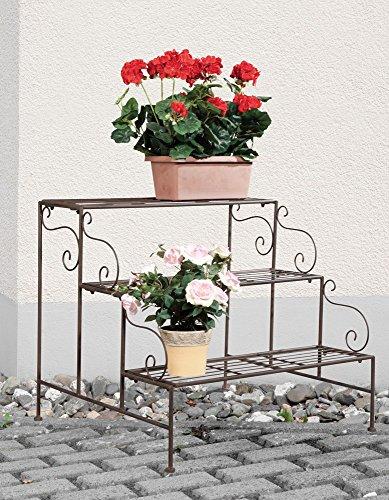 Blumentreppe 3Stufen Eckig H:55cm,Metall